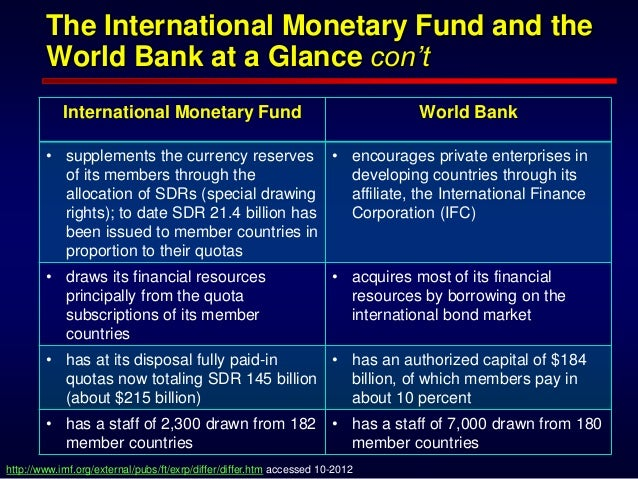 essay on imf and world bank Paper instructions: write a five-page research paper analyzing the role of the world bank and the international monetary fund in the global financial system this analysis requires you to describe how the global financial system operates in general terms, including the historic events which shaped the modern global financial system.