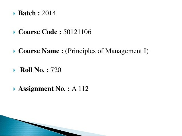 Principle of management solved case study