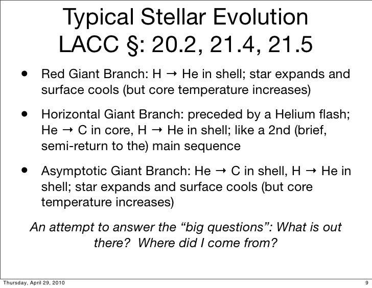 A1 18 Stellar Evolution