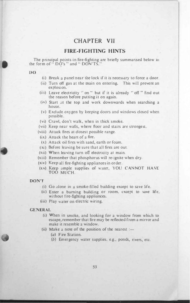 basic fire fighting training manual