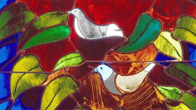 (V) 1. De mussen in de bomen, dat scheppingsoverschot, wie ziet ze gaan en komen, wie kent hun vluchtig lot (M) 2. Al wat ...