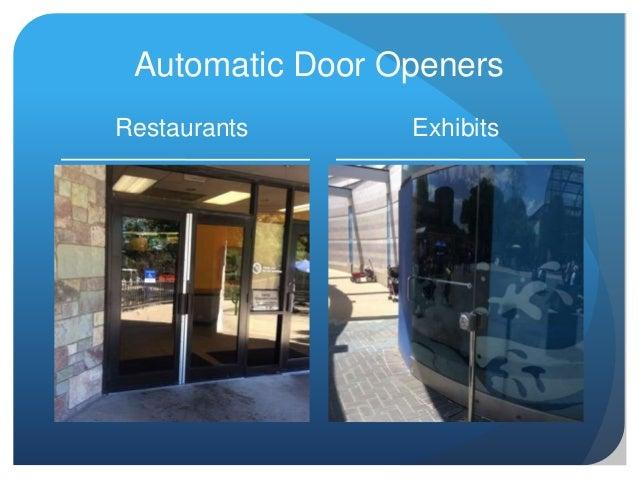 Automatic Door Openers Restaurants Exhibits