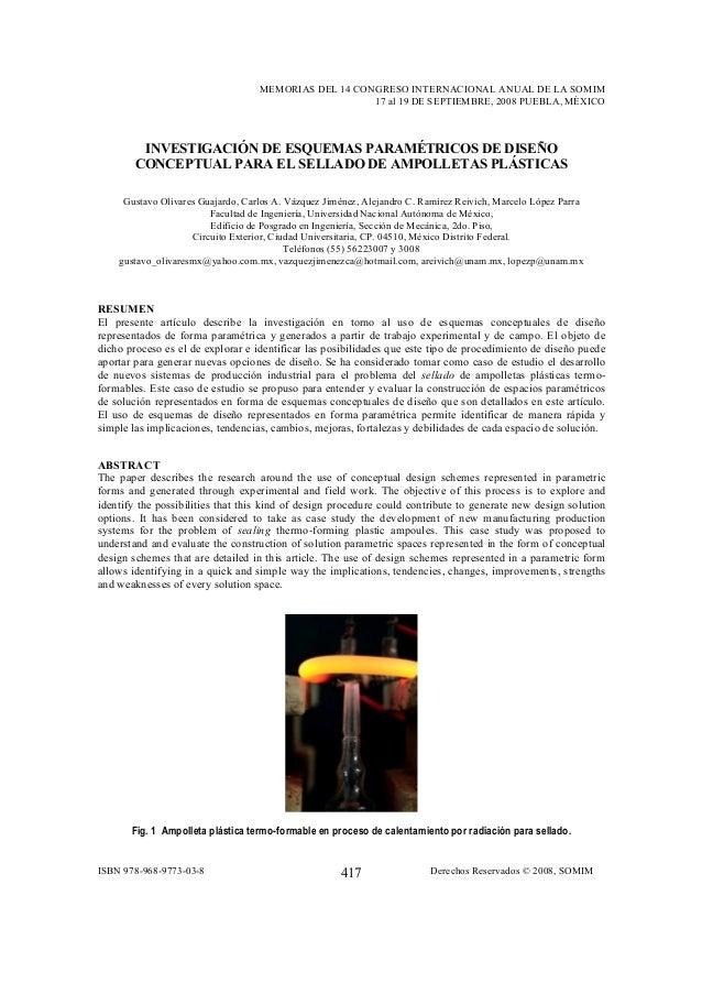 MEMORIAS DEL 14 CONGRESO INTERNACIONAL ANUAL DE LA SOMIM 17 al 19 DE SEPTIEMBRE, 2008 PUEBLA, MÉXICO ISBN 978-968-9773-03-...
