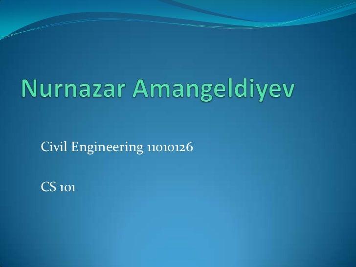 Civil Engineering 11010126CS 101