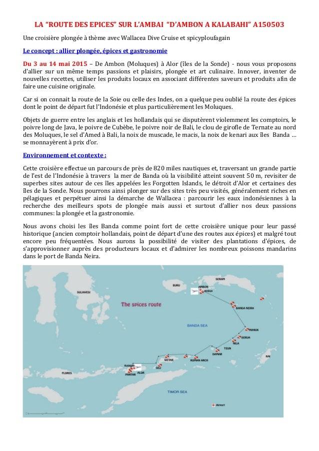 """LA """"ROUTE DES EPICES"""" SUR L'AMBAI """"D'AMBON A KALABAHI"""" A150503 Une croisière plongée à thème avec Wallacea Dive Cruise et ..."""