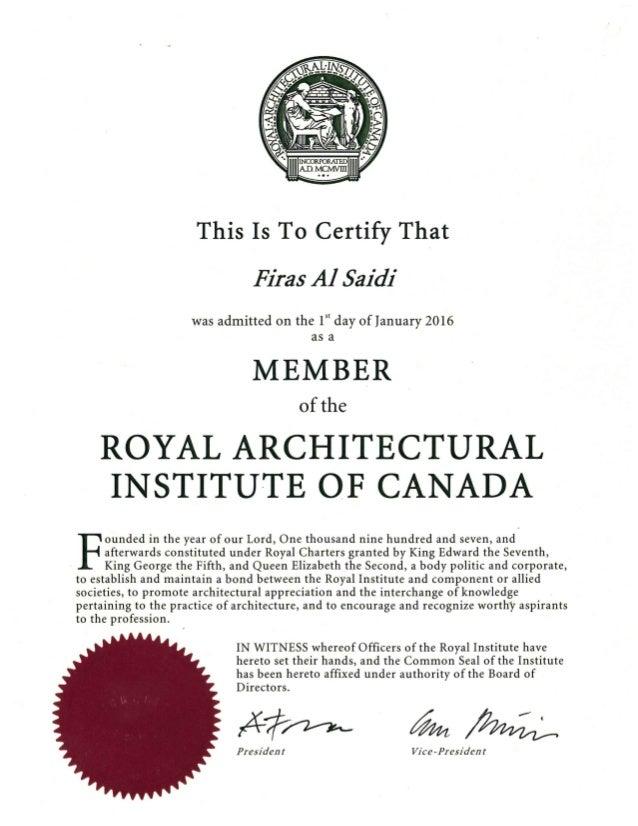 MRAIC Certificate-Firas Al Saidi