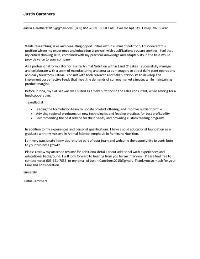 Professional Cover Letter 11.9.2016
