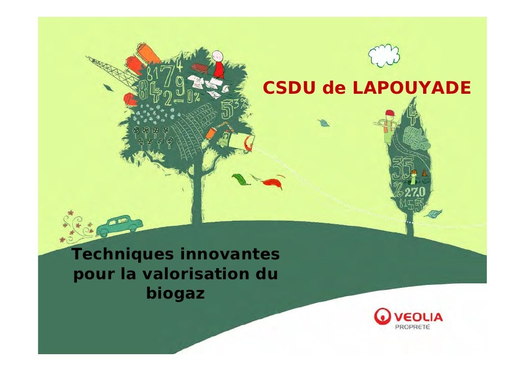 CSDU de LAPOUYADE     Techniques innovantes pour la valorisation du         biogaz