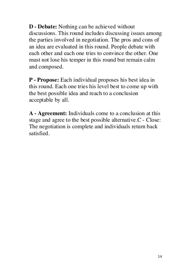 Job Negotiation Analysis Harvard Case Solution & Analysis