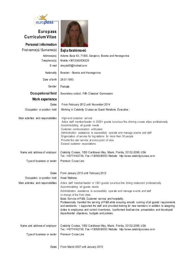 Curriculum Vitae A Format Plks Tk