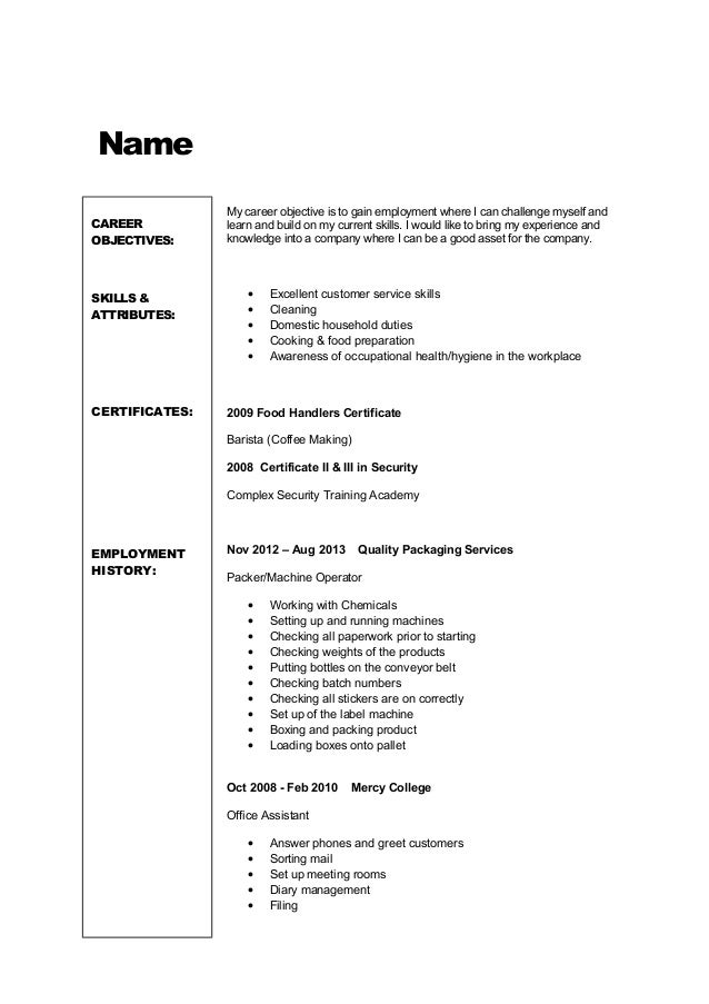 resume template tailored workforce