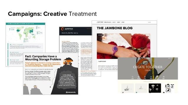 Campaigns: Creative Treatment