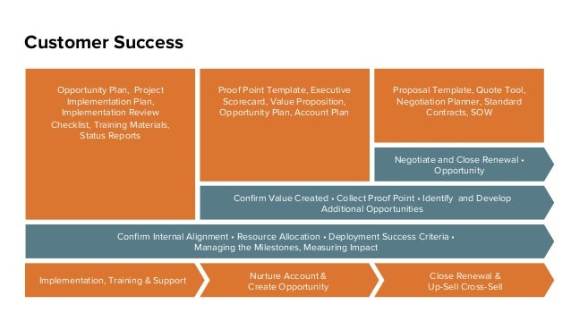 Close Renewal & Up-Sell Cross-Sell Customer Success Opportunity Plan, Project Implementation Plan, Implementation Review C...