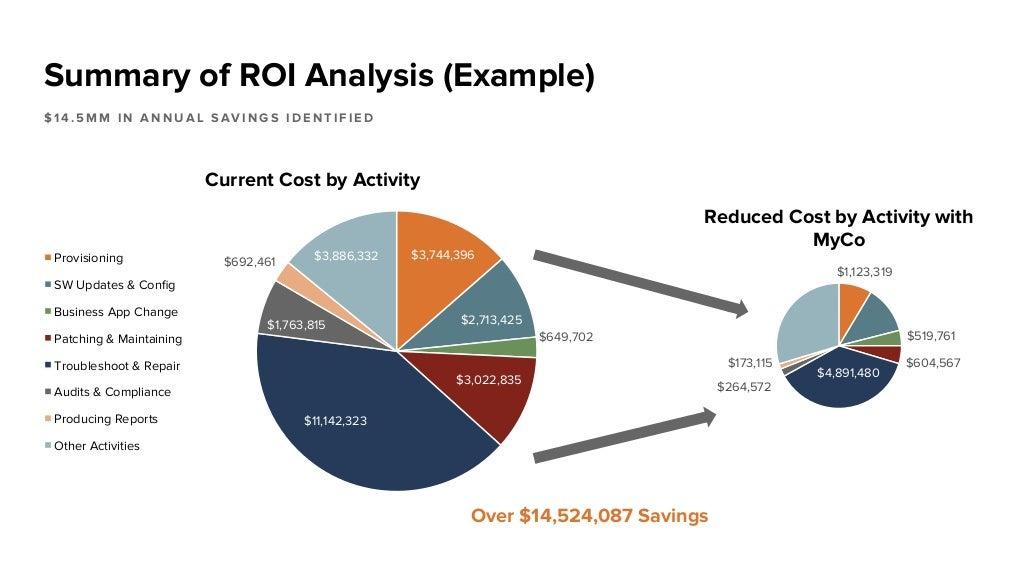 summary of roi analysis  example