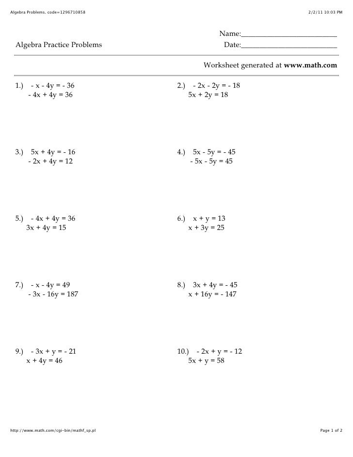 A17-2and7-3 worksheet
