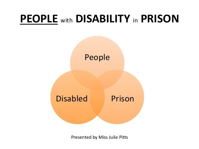 PEOPLE with DISABILITY in PRISON People PrisonDisabled Presented by Miss Julie Pitts