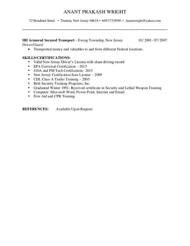 anant wright resume hvac