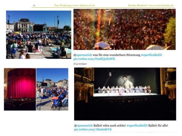14 Tina Wodiunig | www.kultureval.ch Bettina Riedrich | www.zwischendrin.ch