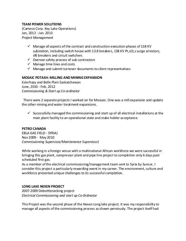 garry resume seal industrial electrician