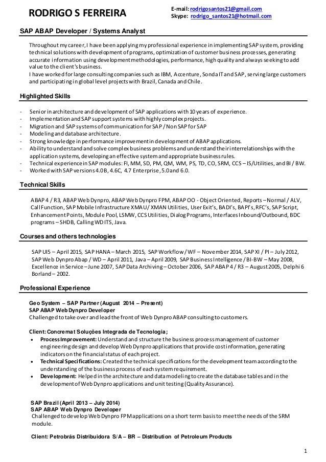 Data Analyst Report Writer Jobs, Employment sap developer ...