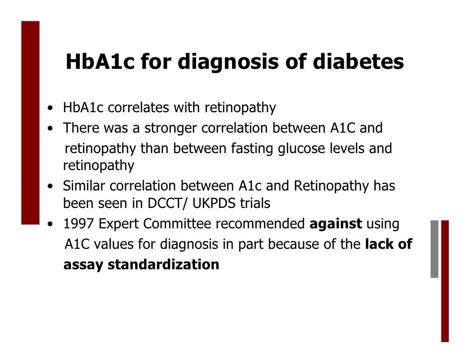 HbA1c : glycosylated hemoglobin