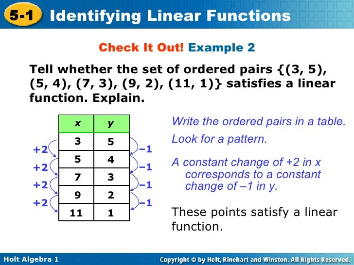 how to create a linear function
