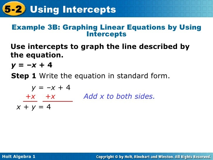 write an equation in standard form for the line described to a tee