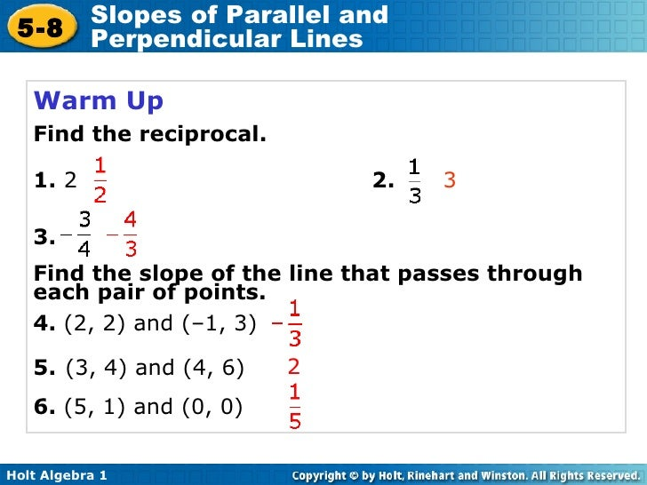 Chapter 5 slopes of parallel and perpendicular lines ccuart Images
