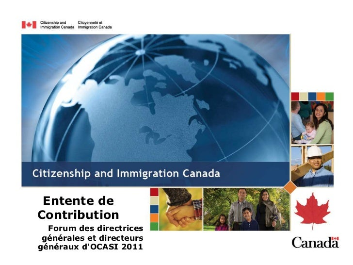 Entente deContribution  Forum des directrices générales et directeursgénéraux dOCASI 2011