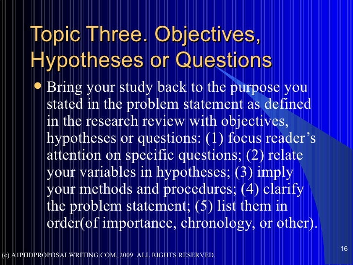 Phd topic selection