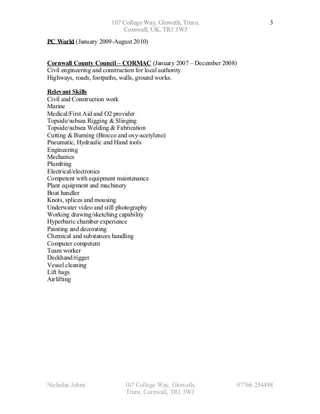 hse commercial air diver cv