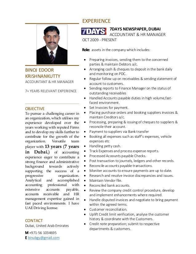 Outstanding Lebenslauf In Dubai Für Accountants Embellishment ...