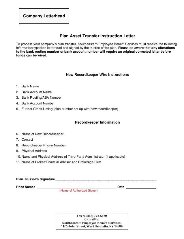 letter of instruction form