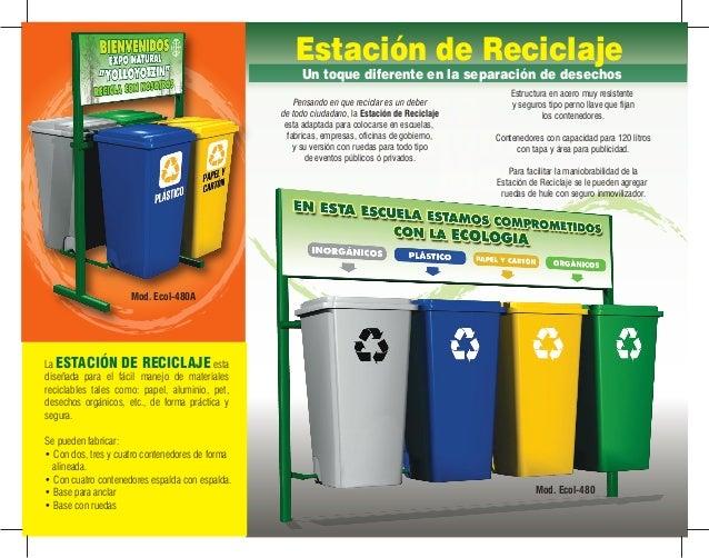 A1 contenedores estacion de reciclaje isla papeleras - Contenedores de reciclar ...