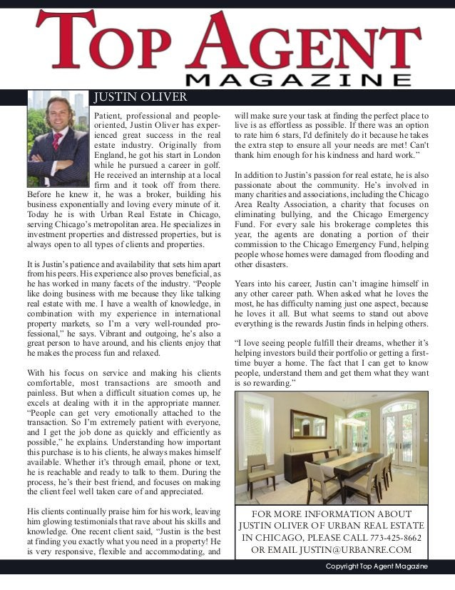 Patient, professional and people- oriented, Justin Oliver has exper- ienced great success in the real estate industry. Ori...