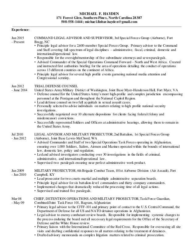 resume hayden