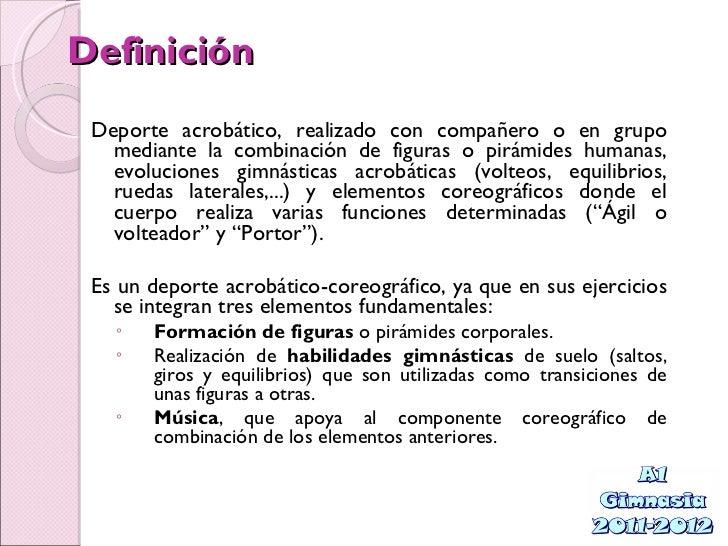 Gimnasia acrob tica for Definicion de gimnasia