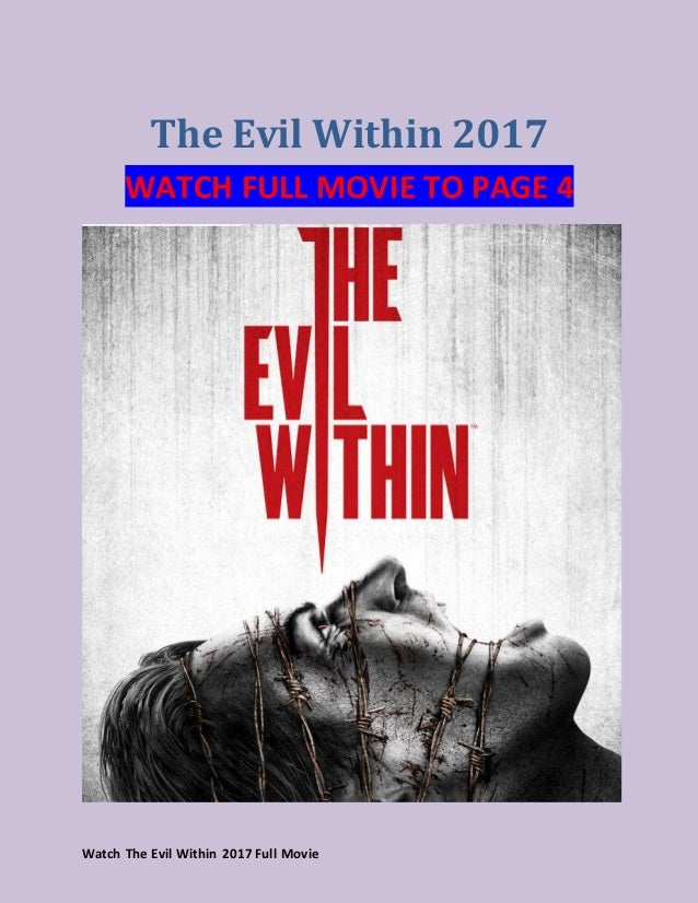 watch the evil within 2017 full movie streaming reddit