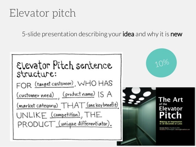 Elevator pitch app