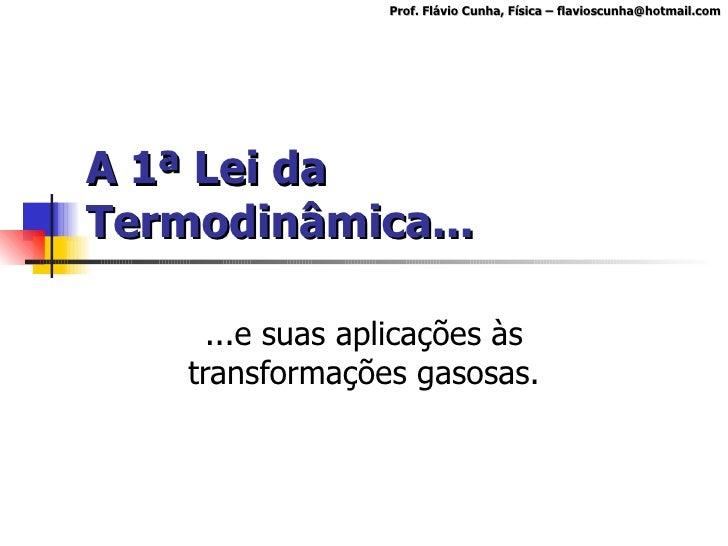 Primeiro principio da termodinamica