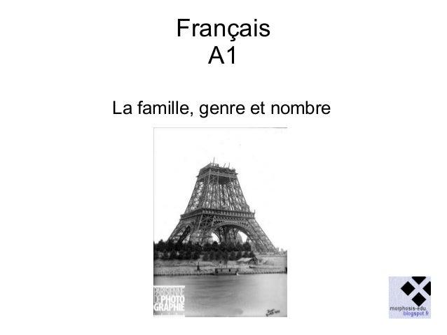 Français A1 La famille, genre et nombre
