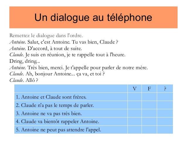 Rozmowa telefoniczna - ćwiczenie typu prawda czy fałsz? - Francuski przy kawie