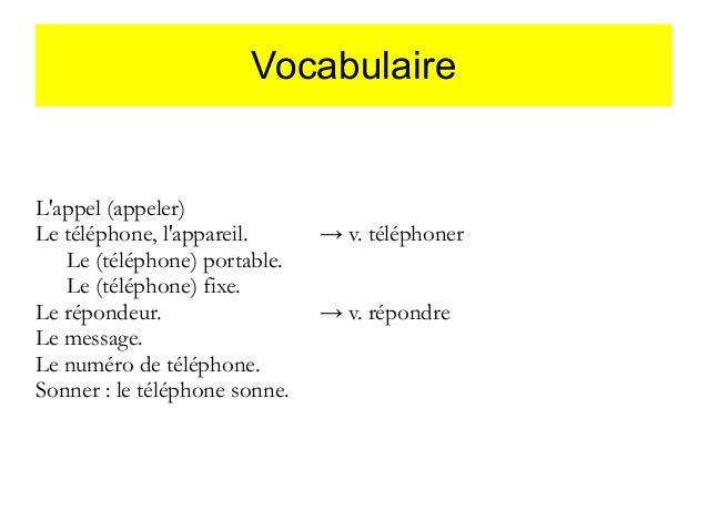 Rozmowa telefoniczna - słownictwo 12 - Francuski przy kawie