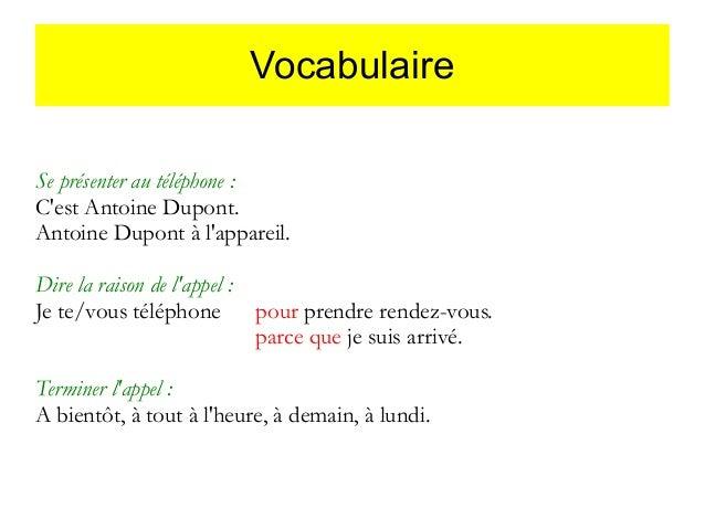 Rozmowa telefoniczna - słownictwo 11 - Francuski przy kawie