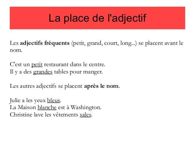 Miejsce przymiotnika - gramatyka 9 - Francuski przy kawie