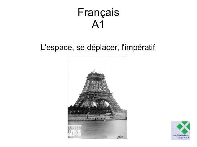 Français A1 L'espace, se déplacer, l'impératif