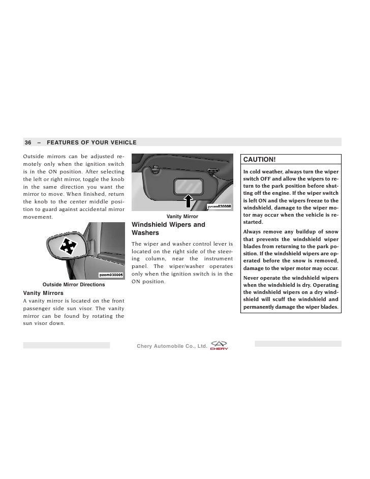 Manual Chery A1, Nice, Face o Speranza