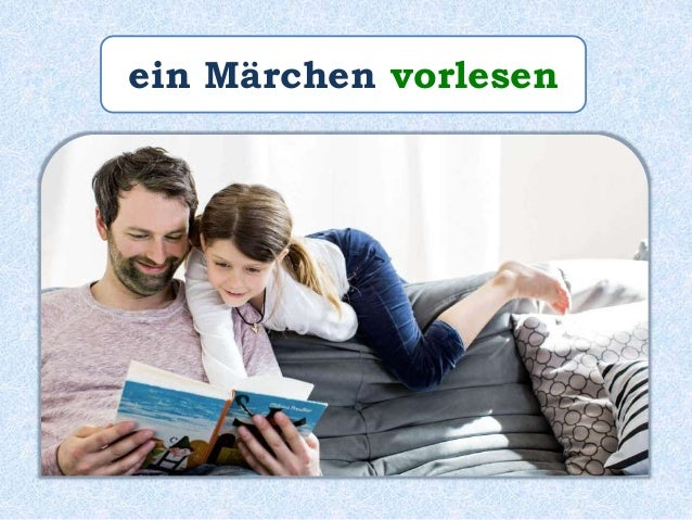 """Paul _______ Paulinchen das Märchen """"Die Bremer Stadtmusikanten"""" _____. liest vor"""