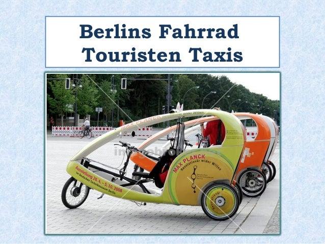 Berlins Fahrrad  Touristen Taxis