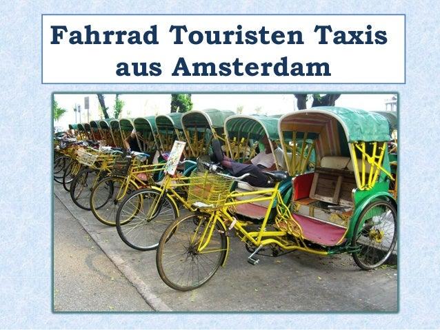 Fahrrad Touristen Taxis  aus Amsterdam